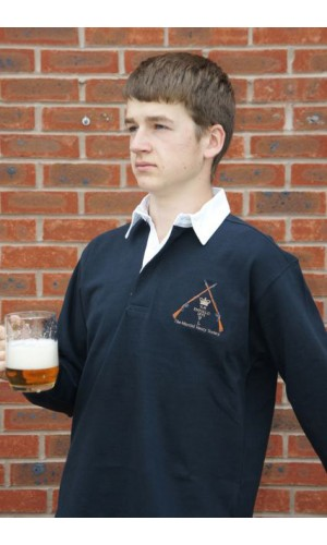 The Martini Henry Society Embroidered Rugby Shirt Marines Blue