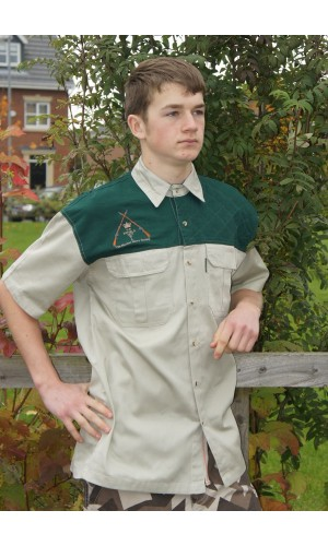 The Bushmaster Ranger Quilted Shoulder Shooting shirt Right Hand shot